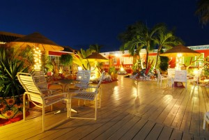a picture of the terrace at sea breeze apartments near mangel halto beach aruba