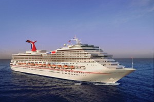 The Carnival Conquest cruises to aruba