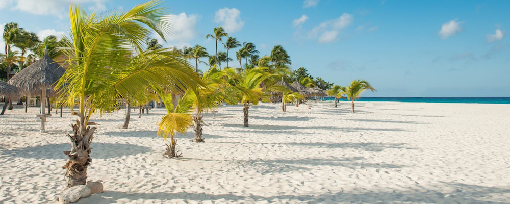 a picture of manchebo beach, one of the best all inclusive resorts in Aruba