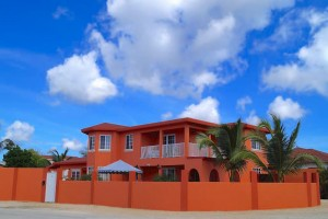 a picture of the hideaway out back apartments near mangel halto beach aruba