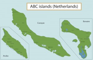 a picture of the abc islands in the caribbean sea