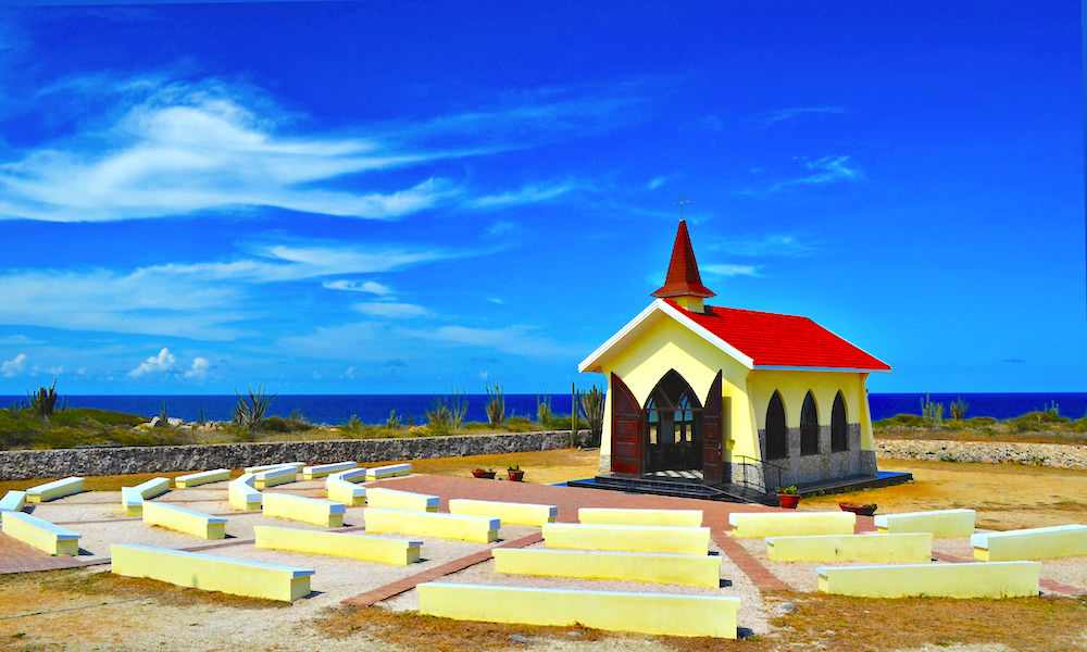 a picture of the alto vista chapel in aruba