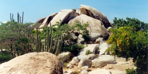a picture of the ayo rock formations in aruba