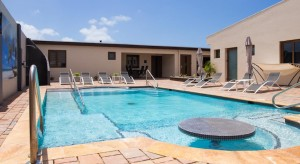 a picture of the pool at the bubali luxury apartments in aruba