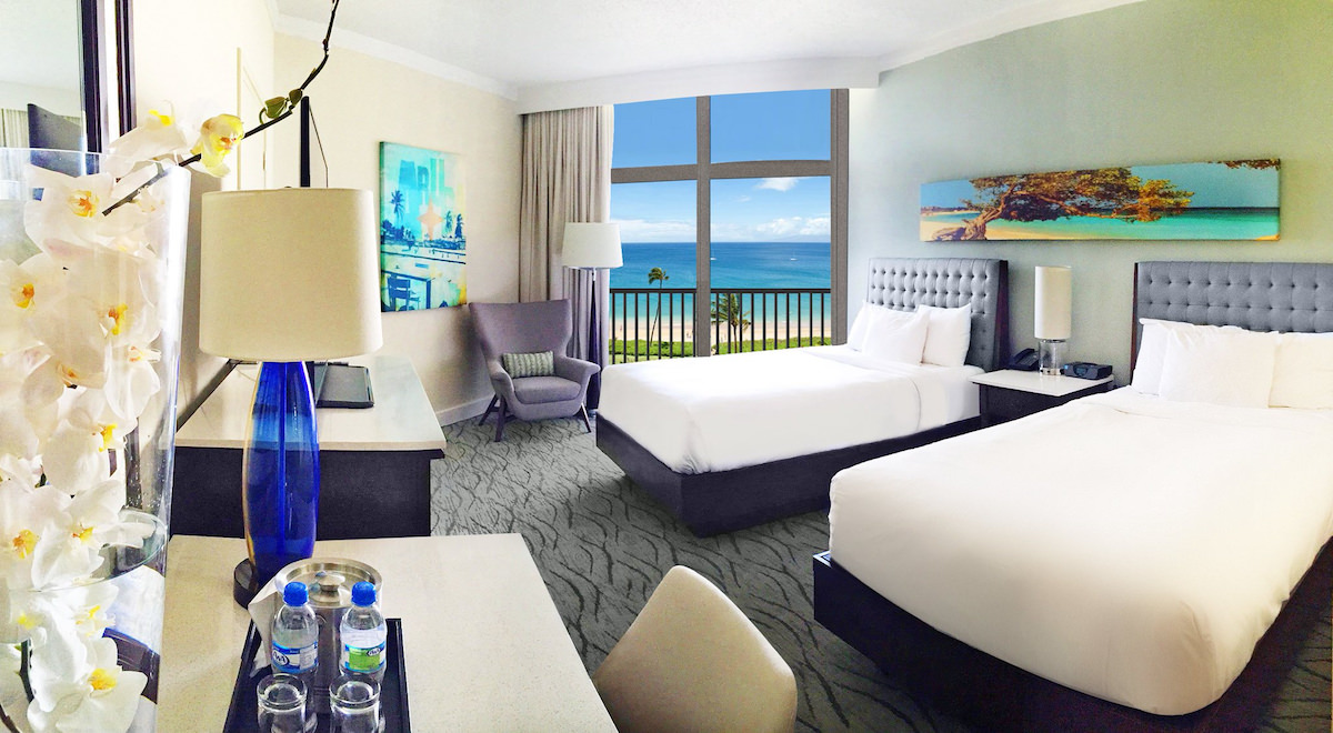 a picture of the refurbished rooms after the hilton aruba renovations 2016