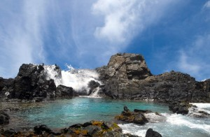 a picture of the natural pool in aruba