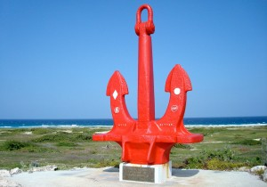 a picture of the seroe colorado anchor in Aruba