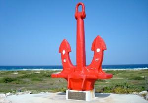 a picture of the seroe colorado anchor in Aruba