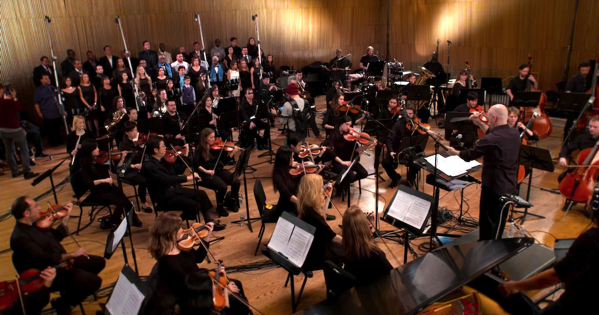 a picture of the philharmonic orchestra in new york performing the national anthem of aruba