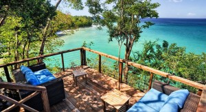 a picture of the secret bay boutique hotel in dominica