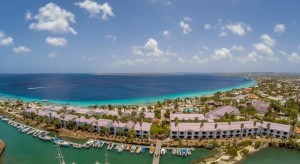 a picture of the All Inclusive Plaza Beach Resort in Bonaire, one of the best all inclusive resorts in the Dutch Caribbean