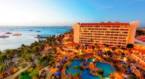 a picture of the Barceló Aruba All Inclusive Resort in Aruba, one of the best all inclusive resorts in the Dutch Caribbean