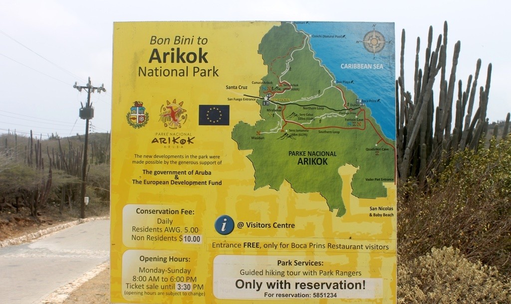 arikok national park entrance sign