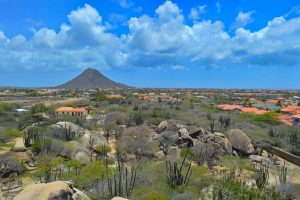 Hooiberg, Aruba's second highest mountain, seen from the Casibari Rock Formations.